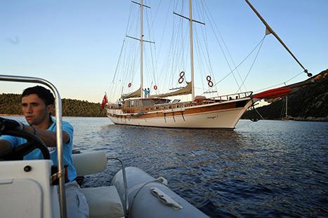 Sailing coast Turkey