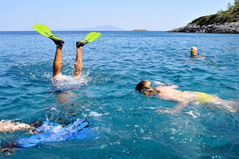 Swimming in Greece Sea